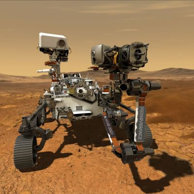 Konceptbild av Nasas Perseverance-rover på Mars.