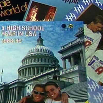 Esitteitä vaihto-opiskeluvuodesta Yhdysvalloissa 1988