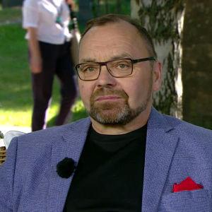 Yle Elävän arkiston ohjelmapäällikkö Reijo Perälä Ylen Aamu-tv:n haastattelussa 20.6.2018.