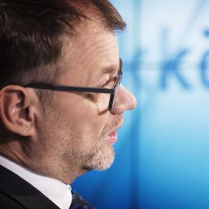 Statsminister Juha Sipilä i Morgonettan.