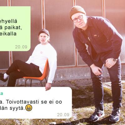 Kuvassa Päkä ja Hätä-Miikka.