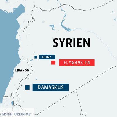 Bombräd mot T4-militärbasen i Homs.