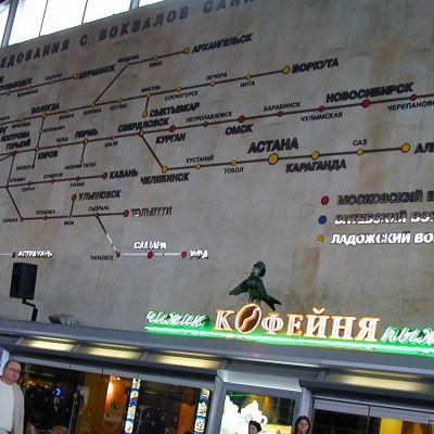 Venäläinen junakartta