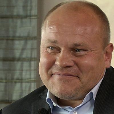 Fotbollslandslagets chefstränare Mixu Paatelinen, september 2014