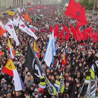 Demonstration i Moskva  29.9.2019