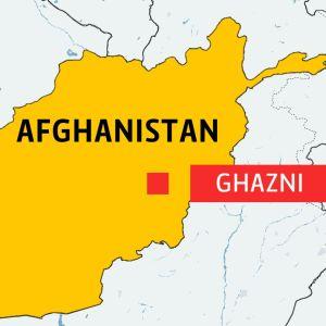 Karta över Afghanistan med staden Ghazni utpekad.