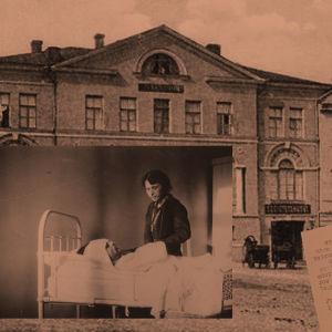 Viipurin Seurahuone, Alma Kuula Toivo Kuulan sairasvuoteen äärellä.