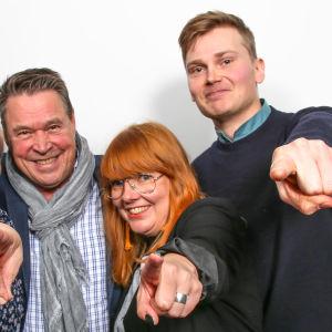 Tarja Närhi, Markku Aro, Susanna Vainiola ja Antti Autio puolilähikuvassa