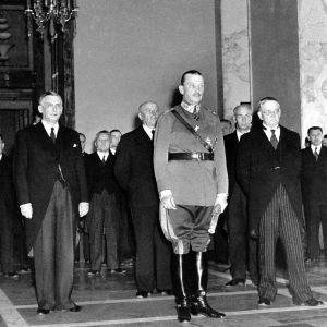 Presidentti Carl Gustaf Emil Mannerheimin virkaanastujaiset.