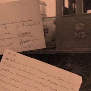 Höyryveturi, matkustuslupa, Toivo Kuulan kirje.