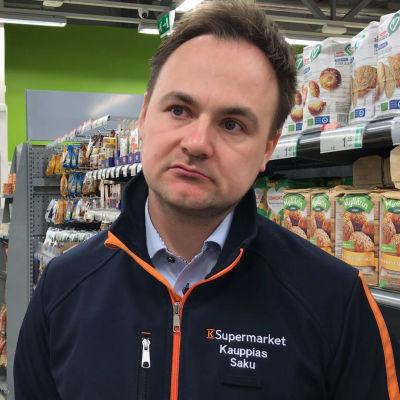 K-supermarket Eurajoen portin kauppias Saku Vätti
