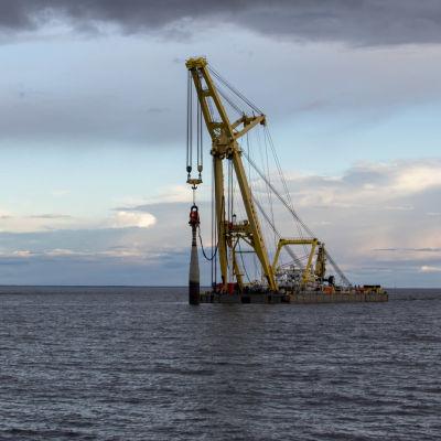 merimerkin asentamista perämerellä