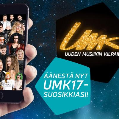 Kannuste äänestämään ennakkoon 26.1. mennessä Uuden Musiikin Kilpailussa 2017.