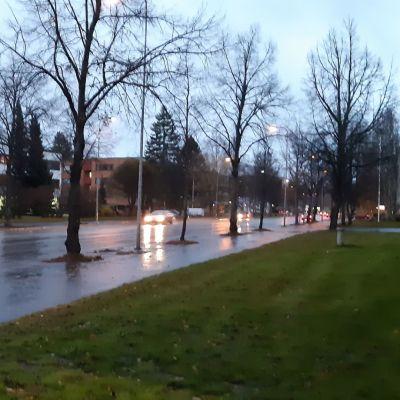 Sateinen sää Seinäjoella 2.11.2020