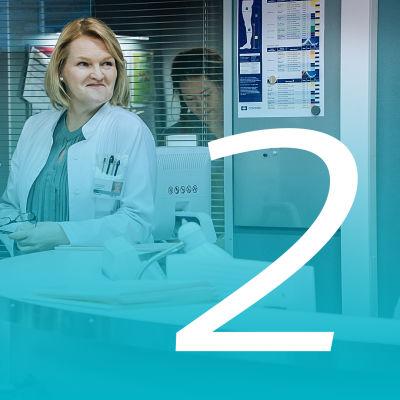 syke-sairaalasarjan vastaanotto ja henkilökuntaa sekä numero kaksi.
