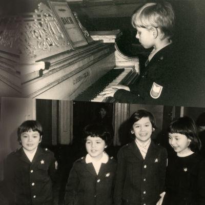 Pikku oppilaita Leningradin konservatorion valmistavassa koulussa 1960-luvun lopulla.
