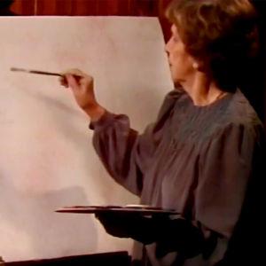 Kylli Koski maalaa (1981).