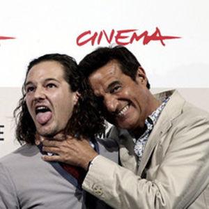 Ohjaaja Brando De Sica isänsä Christian De Sican kanssa Rooman filmifestivaaleilla 2008.