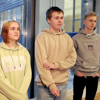 Minttu Uotila, Emma Paakkanen, Vertti Tuhkalainen ja Eetu Pönni