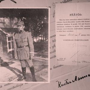 Säveltäjä Aarre Merikanto kersanttina.