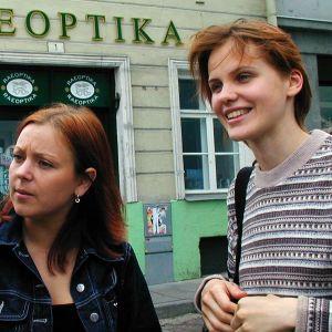Heikki, Õnne ja Ülle Tallinnassa.