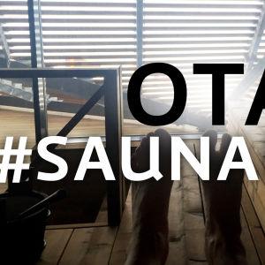 """Kuva uudestä Löyly-saunasta. Tekstiä kuvassa: """"Ota #saunakuva"""""""