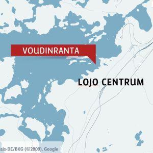 Karta med Lojo sjö.