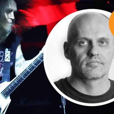 Alexi Laiho ilive  Lasse Grönroos kommenytarstemplat med Lasses ansikte.