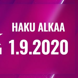 UMK21-biisihausta ilmoittava kuva, haku aukeaa 1.9.2020.
