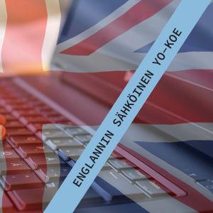 Kuvassa on Yhdistyneen kuningaskunnan lippu ja tietokone.