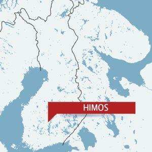 Himos utprickat på en karta.