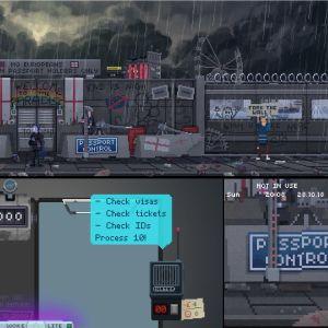 Bilden föreställer ett videospel som fokuserar på de negativa konsekvenserna av brexit