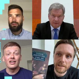 Sauli Niinistö, Pelle Heikkilä, Tim Sparv och Kaj Korkea-aho