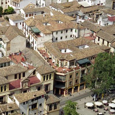 Kattonäkymä Granadassa, Andalusiass.