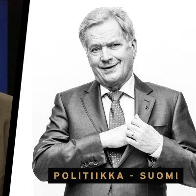 Sauli Niinistö vanha ja uusi kuva.