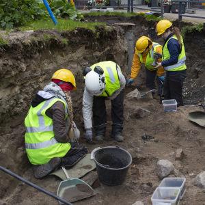 Arkeologiset kaivaukset Oulussa