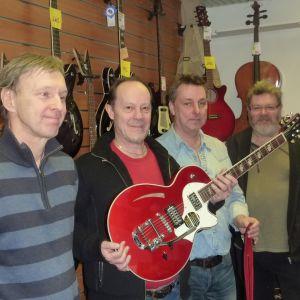 Musikerna Jerry Söderström, Uffe Enberg, Peter Stenström och Ari Viitanen.