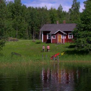 Stuga i Linnansaari nationalpark.