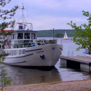 Turbåt i Päjänne nationalpark