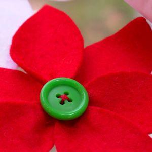 Julstjärna av tyg.