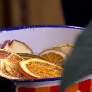 Torkade citrusfrukter för dekoration