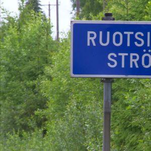 Vi närmar oss Strömfors.