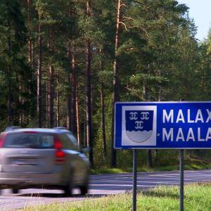 Vi närmar oss Malax.