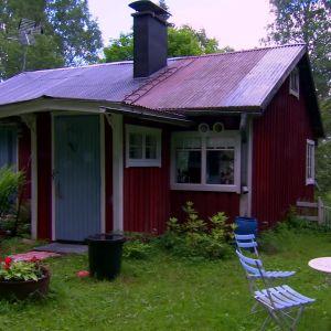 Familjen Björkbackas hus i Strömfors.