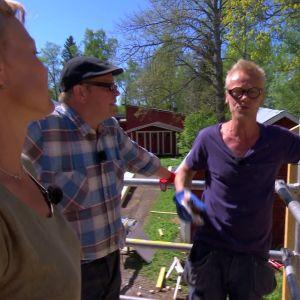Jim, Johan och Susanna på Strömsö.