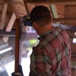 20 återvunna fönster ska användas till växthuset
