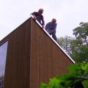 Vindskivan gör att taket hålls på plats även vid hård blåst
