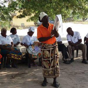 Vapaaehtoiset terveysvalistajat kokoontuvat esittelemään työtään.