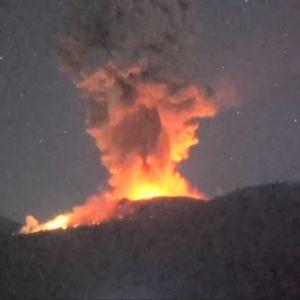 Vulkanutbrott i Japan