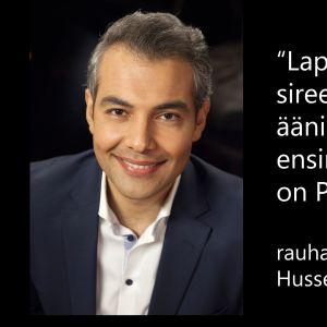 Rauhanneuvottelija Hussein al-Taee tv-ohjelmassa Flinkkilä & Tastula.